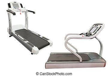 treadmill - The image of a treadmill under the white...