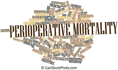 Perioperative mortality - Abstract word cloud for...