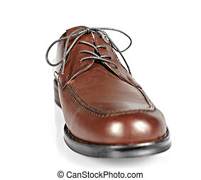 Brown man shoes.