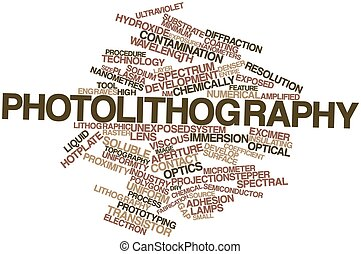 Word cloud for Photolithography - Abstract word cloud for...