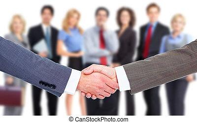 握手, ビジネス, ミーティング