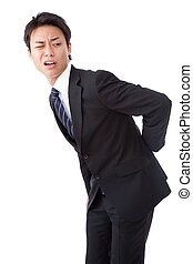 businessman suffering from low back pain - This is a...