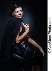Business woman.Professional makeup - Portrait of sexy...