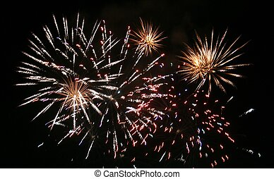 Small Orange Fireworks - Fireworks from the Canada Grand...