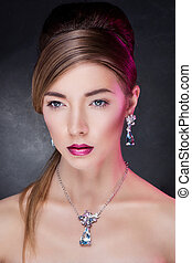 model posing in exclusive jewelry