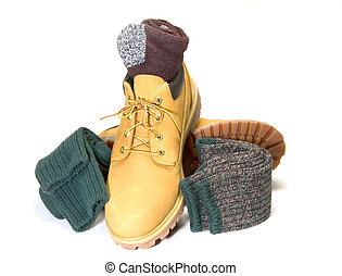 rugged outdoor low cut oxford work shoe boot ragg socks -...