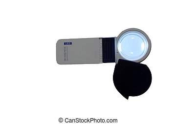 Magnifying Glass with Light - 125X prismatic magnifying...
