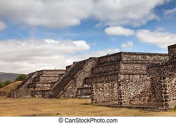 Teotihuacan, Mexico - Platform along the Avenue of the Dead...