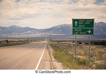 Nevada highway 50 - Route 50 - the loneliest road in...