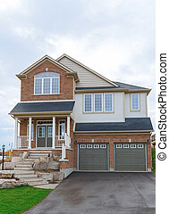 New House in Canada - New two storey house in Canada....