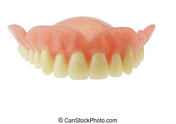 Denture with clipping path on white background