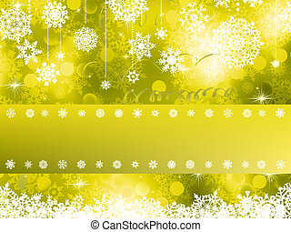 Yellow Christmas background. EPS 8