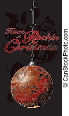 Have a Rockin' Christmas - Transparent Ornament hanging on...
