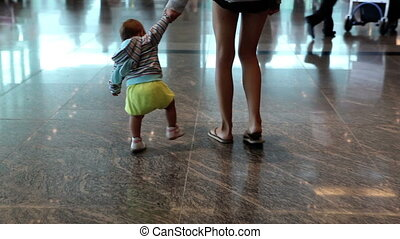 Walking in airport