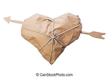 Heart with arrow packed - Shipping heart pierced by an arrow...