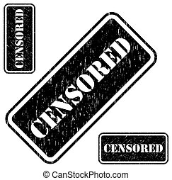 Censored stamp grungy imprint isolated on white background