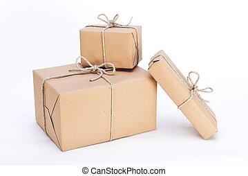 pacotes, Pronto, expedição
