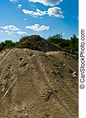 Gravel Hill - Industrial hills of gravel and soil used for...