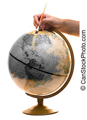 Brightening Up The Planet - A model of the earth being...