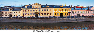 historical district of Moscow in summer evening Russia