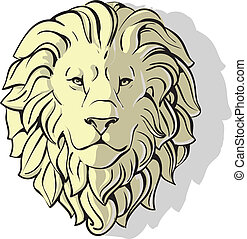 head of lion shadow - head of lion vector eps