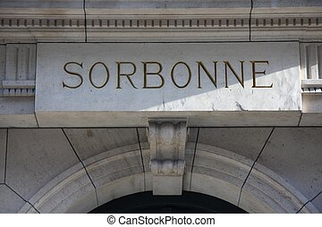 Sorbonne - The front of the Sorbonne University in Paris