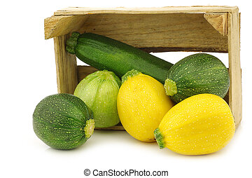 yellow and green zucchinis - yellow and green zucchini...