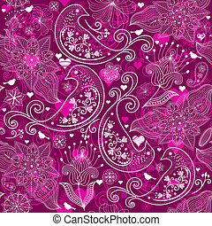 Valentine vinous repeating pattern - Seamless vinous...