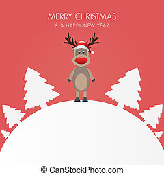 reindeer christmas tree white background world