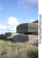 Concrete German bunkers of Second World War