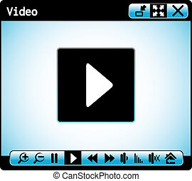 web video player window - Vector web video player window