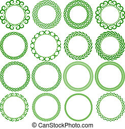 round frame - Set of decorative round frame