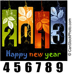 New Year greeting card - Design for the new year 2013, 2014,...