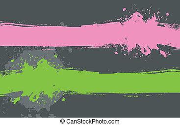 Set of color splash - Vector illustration of Set of color...