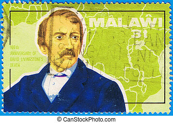 David Livingstone - MALAWI - CIRCA 1973: A stamp printed in...