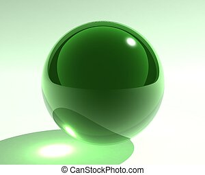 green glass sphere