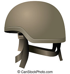 Modern combat helmets Military equipment Vector illustration...
