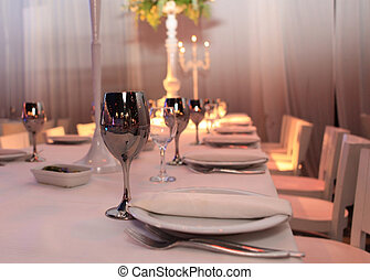 table for guests at the restaurant