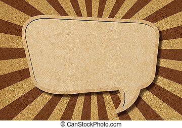 Speech bubble on Corkboard background