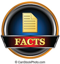 Facts icon - New facts icon on a white background