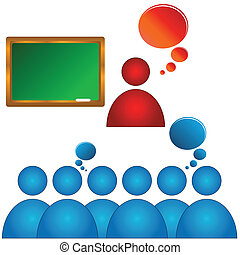 Audience training - Abstract concept of training of audience...