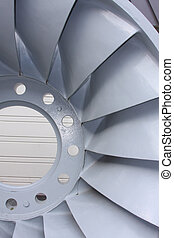 Hydro Electric Turbine - Turbine blades from a hydroelectric...