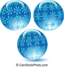 Glass balls with textures