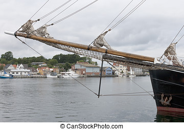 Bowsprit on Old Sailing Ship - Bowsprit on an old sailing...