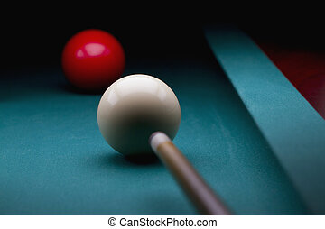 Carambole billiards - Carom billiards straigh single shot