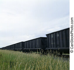 moving train through a field