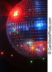 disco ball - mirror disco ball giving off a party vibe at a...