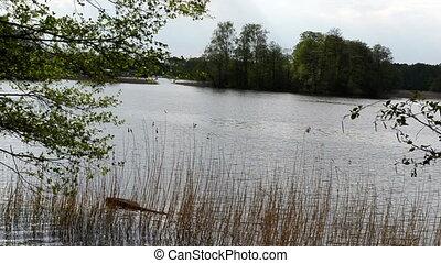 couple pedalo lake fast - Fast scene romantic couple on...