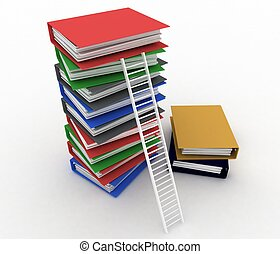 Folders and ladder Conception of career advancement