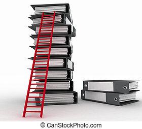 Folders and ladder